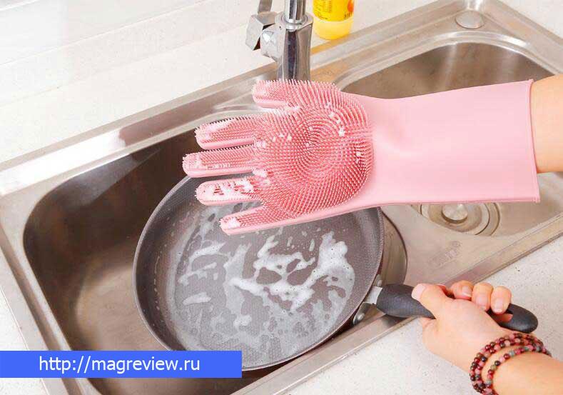 Силиконовые перчатки magic brush