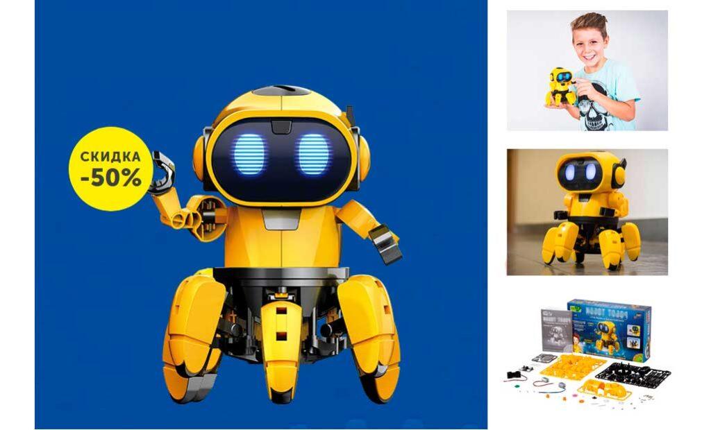Интерактивный робот конструктор Тобби
