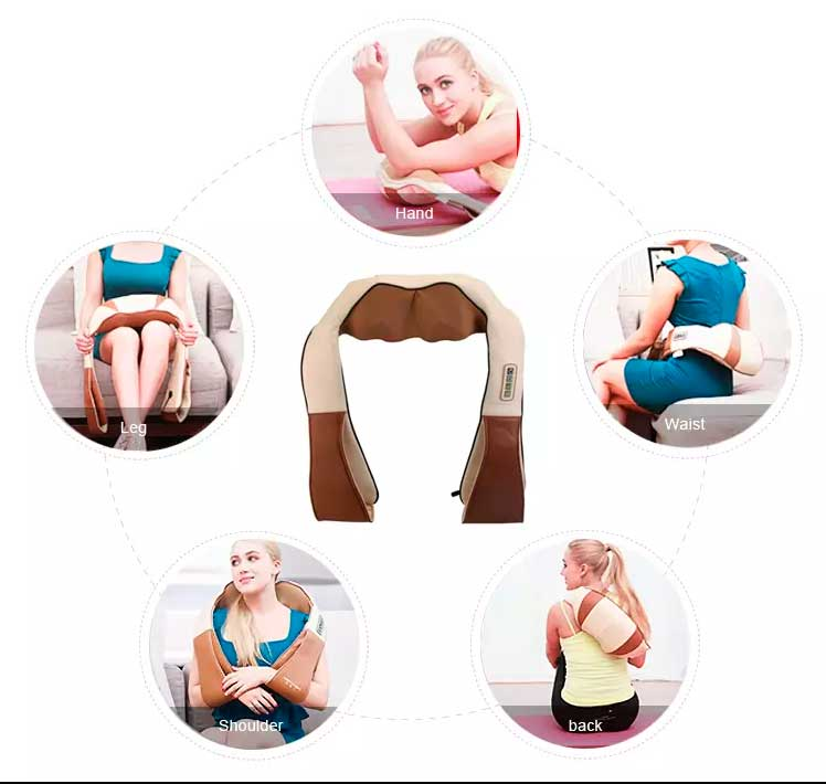 Массажер для шеи, спины и плеч с инфракрасным прогревом