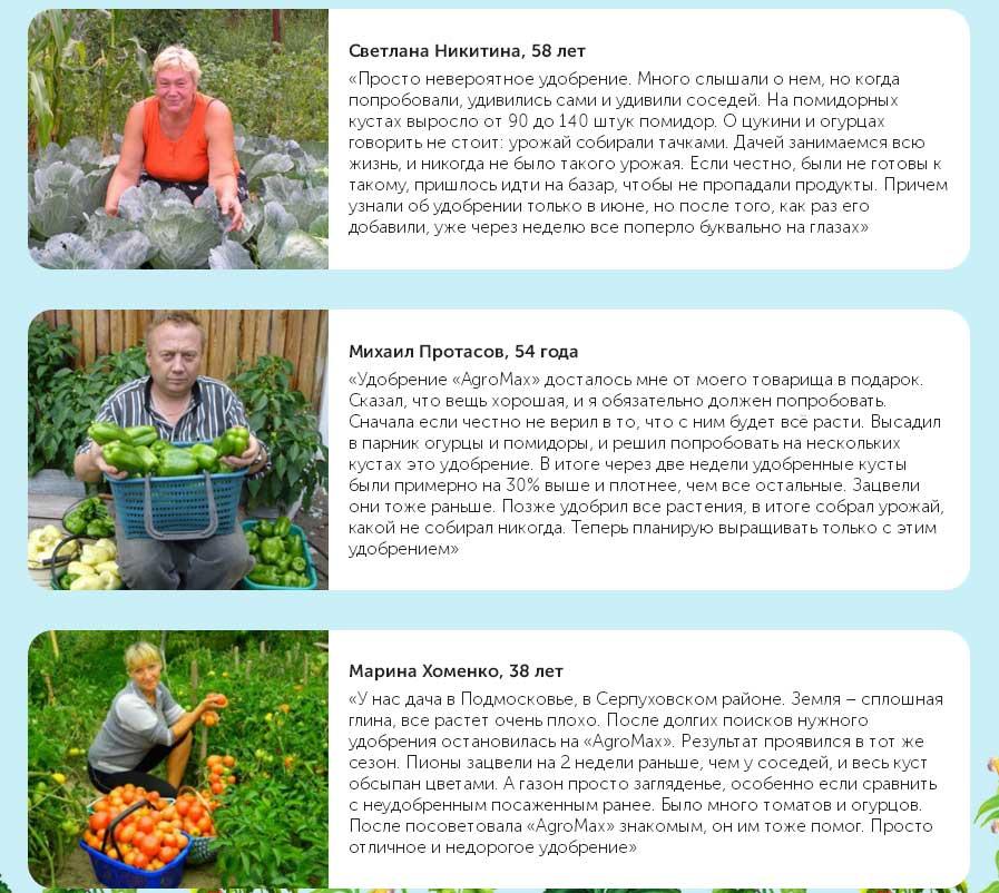 Агромакс - отзывы садоводов