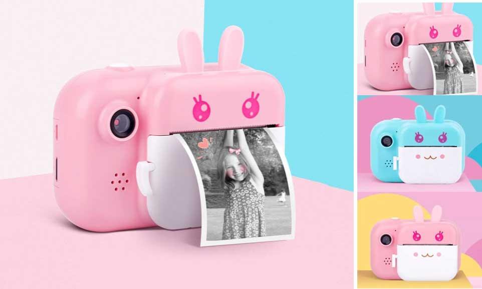 Minibear детская камера c мгновенной печатью